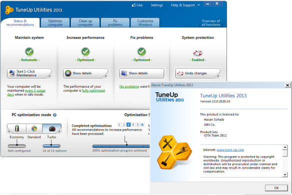 TuneUp Utilities 2013 13.0.2020.14 Latest Full including Patch